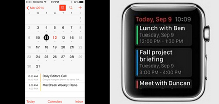 Apple Watch Calendar App