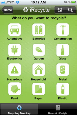 iRecycle iPhone app