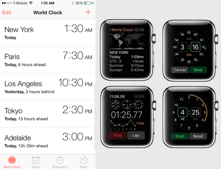 Apple Watch Clock App