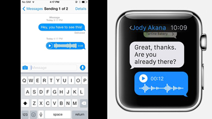 Apple Watch Messages App