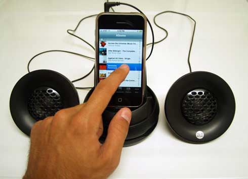 DLO portable iPhone speakers