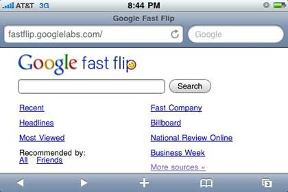 Google Fast Flip for iPhone