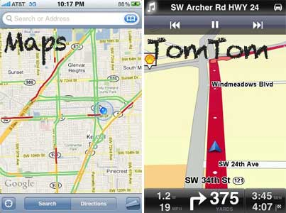 Google Maps vs TomTom