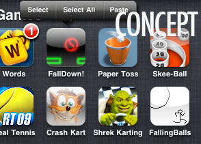 iPhone Folder Select/Paste