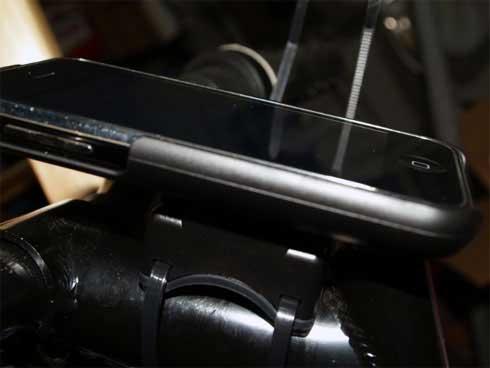 GoRide iPhone bike mount contents