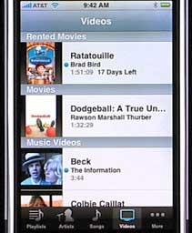 iPhone Movie Rentals