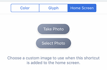 Choose photo for Shortcut on iPhone