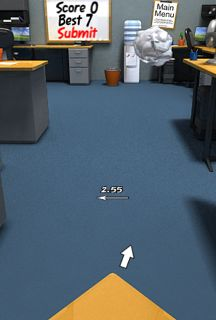 Paper Toss iPhone game