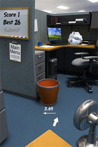 iPhone paper toss game
