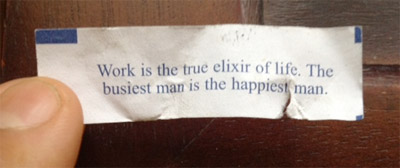 Work is the True Elixir