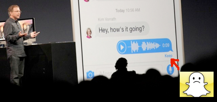 Snapchat Features in iOS 8